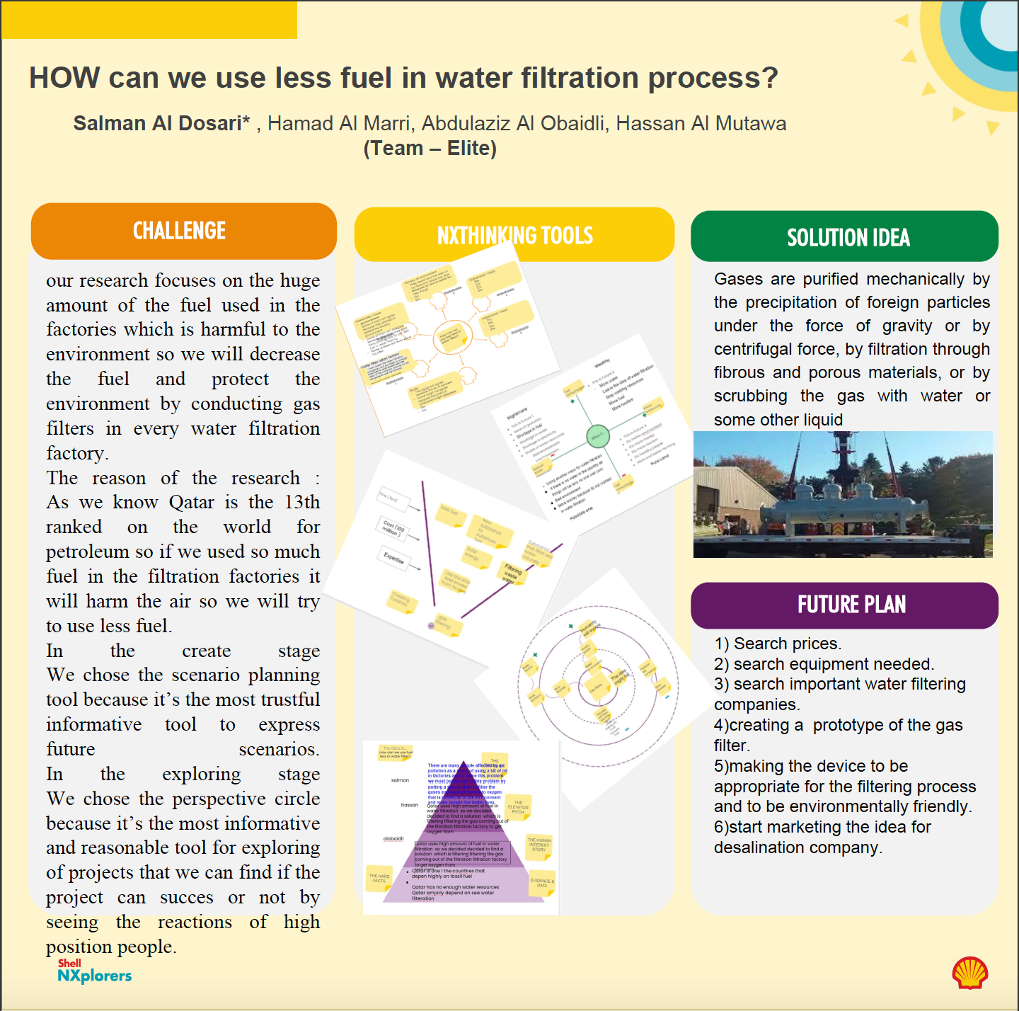 How can we use less fuel in water filtration process?